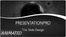 Animated Gray Scale Globe Widescreen PPT PowerPoint Animated Template Background