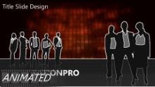 Animated Abstract 1000B Widescreen PPT PowerPoint Animated Template Background