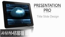 Animated Global Tablet Widescreen PPT PowerPoint Animated Template Background