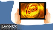 Animated Internet Tablet Widescreen PPT PowerPoint Animated Template Background