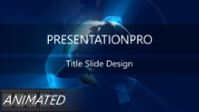 Animated Widescreen Global 0004 PPT PowerPoint Animated Template Background