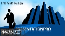 Animated Cloud Business Widescreen PPT PowerPoint Animated Template Background