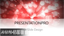 Dancing Dots Red Widescreen PPT PowerPoint Animated Template Background