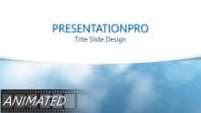 Flying Through Clouds Curve Widescreen PPT PowerPoint Animated Template Background