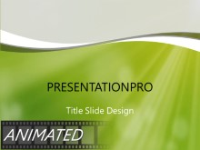 Green Dust Light PPT PowerPoint Animated Template Background