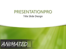 Green Dust Light Curve PPT PowerPoint Animated Template Background