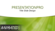 Green Dust Light Curve Widescreen PPT PowerPoint Animated Template Background