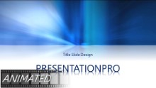 Natural Blue Light Animated Widescreen PPT PowerPoint Animated Template Background