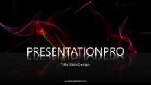 Red Waves Widescreen PPT PowerPoint Animated Template Background