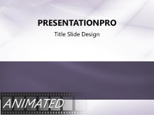 Animated Waveform Flow Purple PPT PowerPoint Animated Template Background