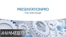 Working Gears Curve Widescreen PPT PowerPoint Animated Template Background