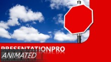 Blank Caution In Clouds Widescreen PPT PowerPoint Animated Template Background