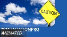 Caution In Clouds Widescreen PPT PowerPoint Animated Template Background