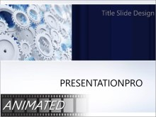 Animated Gears In Motion PPT PowerPoint Animated Template Background
