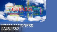 Goals Tag Cloud Widescreen PPT PowerPoint Animated Template Background