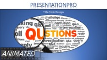 Questions Inspections Widescreen PPT PowerPoint Animated Template Background