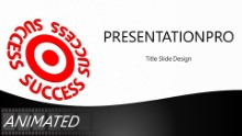 Success On Target Black Widescreen PPT PowerPoint Animated Template Background