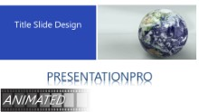 Earth Revolving Widescreen PPT PowerPoint Animated Template Background