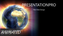 Multi Glow Globe Widescreen PPT PowerPoint Animated Template Background