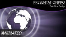 Purple World Widescreen PPT PowerPoint Animated Template Background