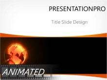 Animated Sunburst Glow Globe PPT PowerPoint Animated Template Background