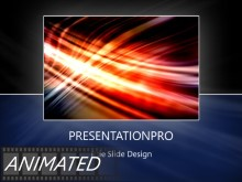 Animated Streak On Black Frame Dark PPT PowerPoint Animated Template Background