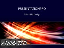 Animated Streak On Black Horizontal Light PPT PowerPoint Animated Template Background
