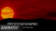 The Setting Sun Widescreen PPT PowerPoint Animated Template Background