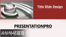 Baseball 0905 B Widescreen PPT PowerPoint Animated Template Background