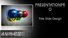 Global Olympic Rings B Widescreen PPT PowerPoint Animated Template Background
