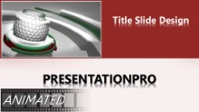 Golf 0906 Widescreen PPT PowerPoint Animated Template Background