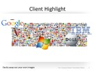Clients Hightlight PPT PowerPoint presentation slide layout