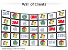 Logo Wall Screens PPT PowerPoint presentation slide layout