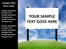 Custom Billboard Message PPT PowerPoint presentation slide layout