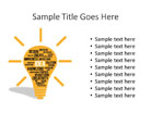 Flashing Idea Bulb PPT PowerPoint presentation slide layout