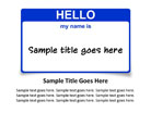 Name Tag Blue PPT PowerPoint presentation slide layout