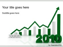 Download 2010 increasing green PowerPoint Template and other software plugins for Microsoft PowerPoint
