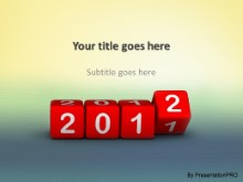 2012 Blocks1 PPT PowerPoint Template Background