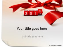 2012 Ribbons PPT PowerPoint Template Background