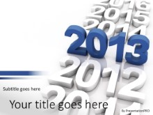Standout Year PPT PowerPoint Template Background