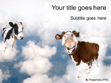 Download cows clouds PowerPoint Template and other software plugins for Microsoft PowerPoint