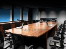 Modern Conference Room PPT PowerPoint Template Background