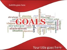 Goals Tag Cloud PPT PowerPoint Template Background