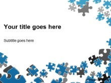 Download puzzle scatter blue PowerPoint Template and other software plugins for Microsoft PowerPoint