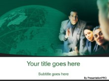 Download consulting group green PowerPoint Template and other software plugins for Microsoft PowerPoint