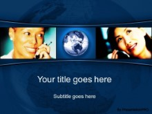 Download global communication blue PowerPoint Template and other software plugins for Microsoft PowerPoint