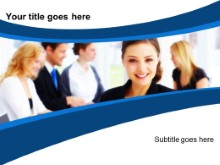 Download smiling female exec PowerPoint Template and other software plugins for Microsoft PowerPoint