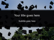 Download graduation toss PowerPoint Template and other software plugins for Microsoft PowerPoint