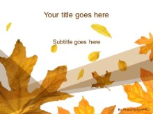Download autumn leaves PowerPoint Template and other software plugins for Microsoft PowerPoint