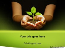 Download plant in hands PowerPoint Template and other software plugins for Microsoft PowerPoint